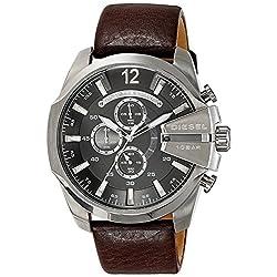 Diesel Men's DZ4290 Diesel Chief Series Quartz Brown Watch with Analog Display