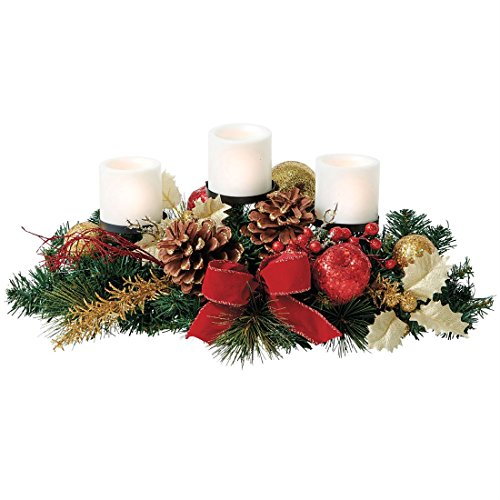 Creating a beautiful christmas centerpiece for table