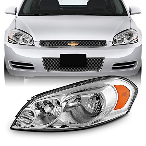 Fits 2006-2013 Chevy Impala 14-16 Impala Limited 06-07 Monte Carlo [OE Style] Headlight Headlamp For Driver Left ()