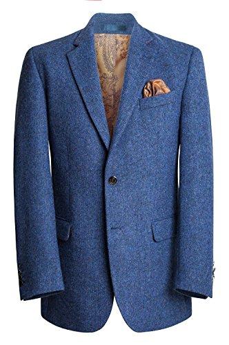 Men's Irish Tweed Handwoven Blazer - Blue (38R) - Irish Tweed Jackets