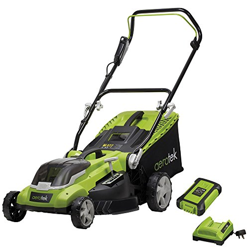 Aerotek Cordless Lawnmower 40V Lithium-Ion 4Ah Battery & Charger Included...
