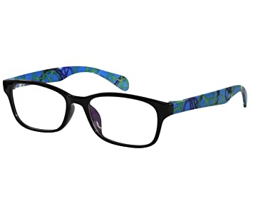 8dca2edc1b Amazon.com   EyeBuyExpress Bifocal Retro Eye Glasses RX Women Men Blue  Purple Green Bright Flexible Material   Beauty