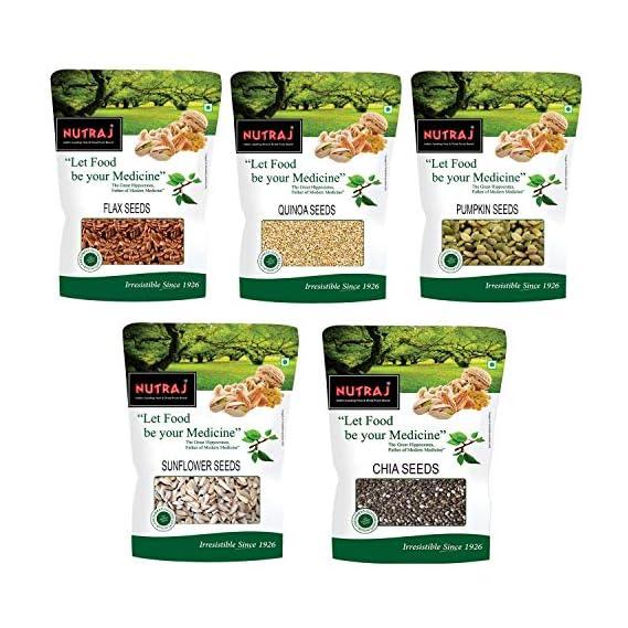 Nutraj Seeds Pack 1 Kg - Combo of Chia Seeds, Sunflower Seeds, Flax Seeds, Pumpkin Seeds, Quinoa Seeds