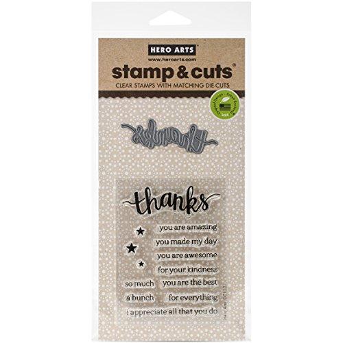 (Hero Arts DC152 Stamp & Cut, Thanks )