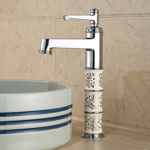 Chrome Single Lever Lavatory - Senlesen Bathroom Vessel Sink Faucet Single Lever Lavatory Mixer Tap Tall Body Chrome Polished