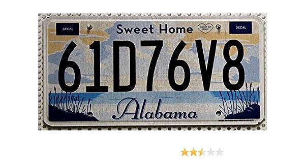 Estados Unidos Matrícula Alabama ~ US Matrícula Heart of Dixie/Sweet Home ~ Cartel de chapa: Amazon.es: Coche y moto