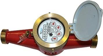 "Multi Jet 1 Pulse per 10L 1¼""//32mm Hot water meter Up to 90˚C"
