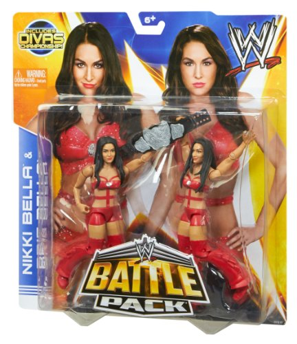 WWE Battle Pack Bella Twins with Diva Title Action Figure, 2-Pack