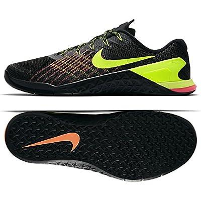 NIKE Men's Metcon 3 Training Shoe Black/Volt-Hyper Crimson-HOT Punch 8.5