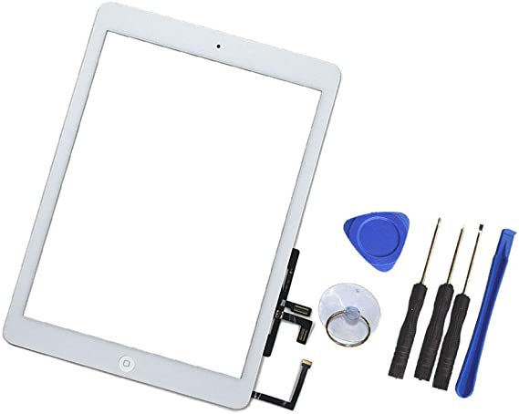 New Touch Digitizer Screen+Home Button Flex for iPad Air.A1474,A1475,A1476