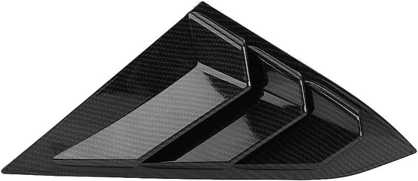 KIMISS 1 par Panels Ventanilla de entrada de aire de la ventana lateral Izquierda y Derecha del coche para 2016-2018 Fibra de carbon