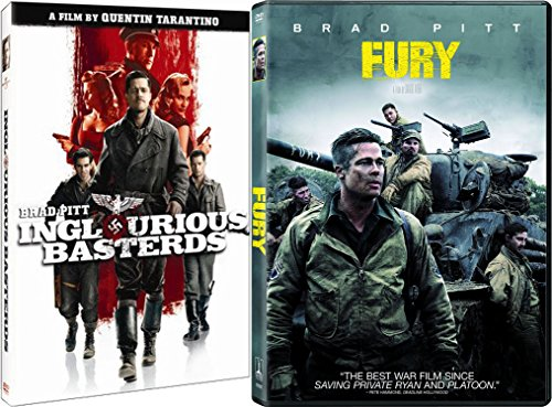 Brad Pitt Double Feature - Quentin Tarantino's Inglorious Basterds & David Ayer's Fury 2-Movie Bundle (Quentin Tarantino No Country For Old Men)