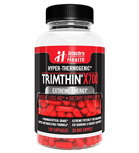 Maximum Thermogenic Fat Burner (Trimthin® X700 Hyper-Thermogenic Fat Burner With Maximum Appetite Suppression - Extreme Energy & Weight Loss - Made in USA From Clinically Proven Ingredients GMP Certified Highest Quality Guaranteed, 120)