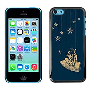 Soft Silicone Rubber Case Hard Cover Protective Accessory Compatible with Apple iPhone? 5C - stars space dream rocket theatre