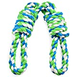 #9: EETOYS Tug Rope for Large Dogs, Tug of War Dog Toy with 2 Handles Easy for Interaction Between Human and Large Breeds, Adult-Senior, Dental Floss Rope for Dogs' Dental Health