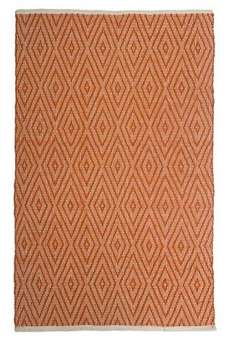 Fab Habitat, Indoor/Outdoor Floor Rug - Handwoven, Made from Recycled Plastic Bottles - Windsor/Orange, 2' x (Windsor Outdoor Furniture)