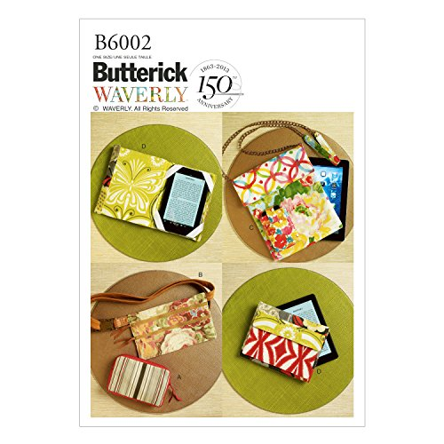 (BUTTERICK PATTERNS B6002 Zipper Case, Belly Bag and Electronic Device Cases, One Size)