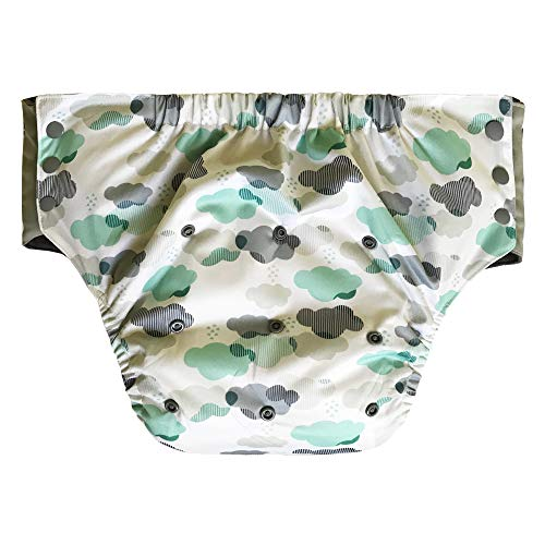 Adult Pull On Diaper with Tabs - Medium Reusable Incontinence Briefs for Women or Men (Regular,