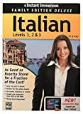 Instant Immersion Italian Levels 1, 2 & 3 Mac & PC Software Edition Learn to Speak A Foreign Language With a Free App