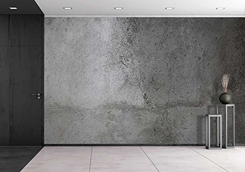 wall26 - Gray Wall Background, Concrete Texture - Removable Wall Mural | Self-adhesive Large Wallpaper - 66x96 inches