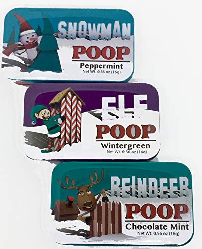 The Lakeside Collection Novelty Mint Tins - Character Poop - Holiday Mint Tins