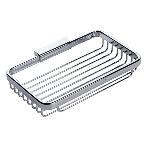 Ginger 551G/PC Hotelier Wall Mounted Shower Toiletry Basket, Polished Chrome