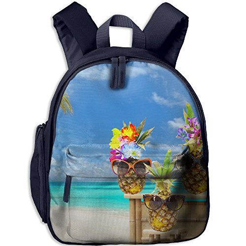 Hawaii Pineapple School Backpack Bag For Boys Girls