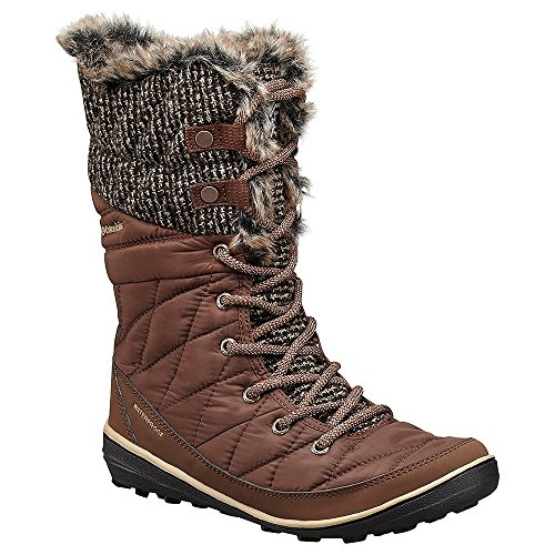 Columbia Women's Heavenly Omni-Heat Knit Tobacco/Dark Mirage Boot 6 B (M) -
