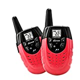 Kids Walkie Talkie, Portable Two-way Long Range Rechargeable interphone for Children Outdoor Activities gift Toy. Pink (Pair)