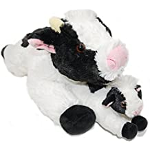 Exceptional Home Super Soft Cows Plush Stuffed Animals Set - 18