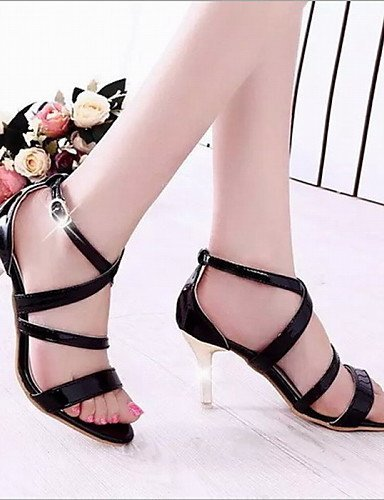ShangYi Fashion Womens Shoes Leatherette Stiletto Heel Heels Sandals Office & Career / Dress / Casual Black