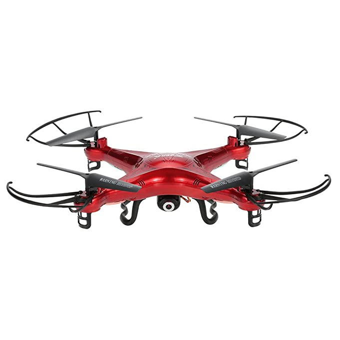 Syma X5C Drone with 2.0MP HD Camera RC Quadcopter with 3D Flips & High/Low Speed & Left/Right Mode Exclusive Red Color
