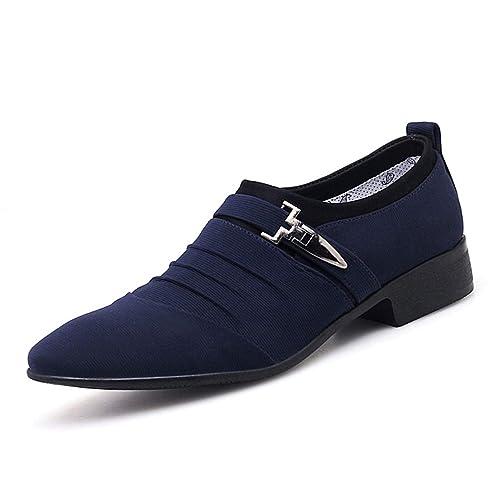 Mens Vestido Zapatos De CláSico Negocio Oficina Oxford Mocasines De Hombres: Amazon.es: Zapatos y complementos