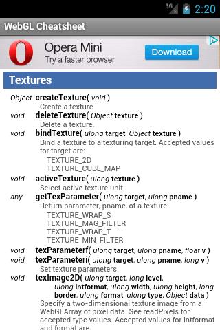 Amazon com: WebGL Cheatsheet: Appstore for Android