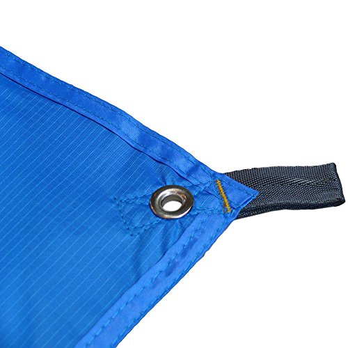 Bushcraft Camping Tarp by Tent Tools | Premium Lightweight Rain Tarp Riptop Polyester Doesn't Sag (Blue, Gray, Green Tarp Only or Kit with Optional Guyline & Tent Stakes)