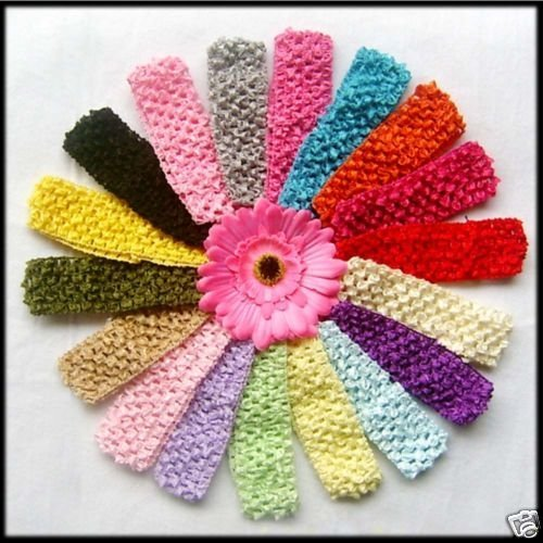 Amazoncom Set Of 30 15 Baby Girls Crochet Headbands Clothing