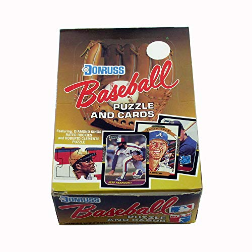 1987 Donruss Baseball Box (36 Packs) Possible Bonds Maddux Rookies from Donruss