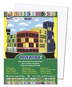 """Pacon Riverside 9"""" x 12"""" White - Papel (Color blanco, 9"""" x 12"""")"""