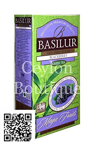 Basilur Magic Fruits - Blackberry Flavored Ceylon Tea in 25 Tea Bags