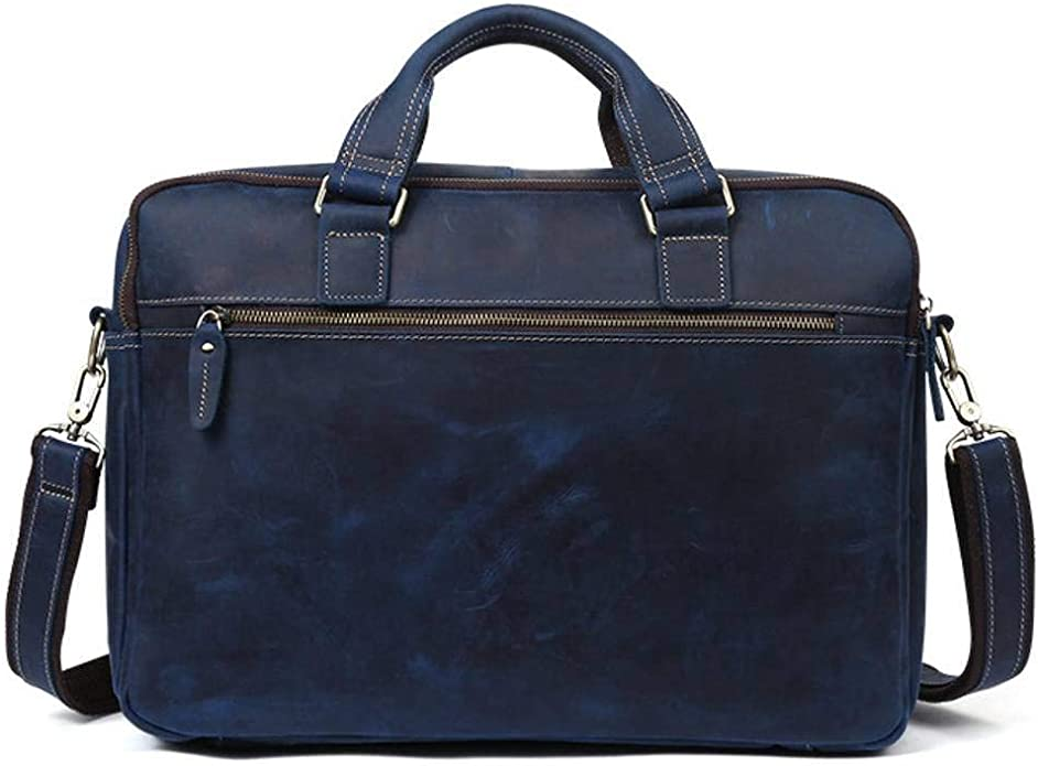 Bxfdc Business Tote Bag Computer Bag Mens Messenger Bag Mens Briefcase Color : Blue