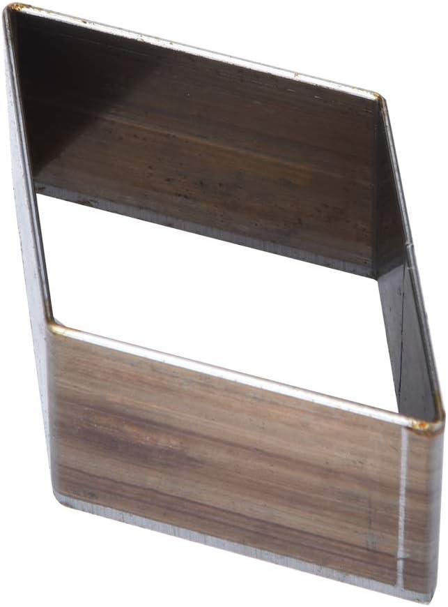 7pcs stampo in pelle punzonatura 20-50mm strumento foro fai da te a forma di diamante cava a forma di foro per la fabbricazione di portafogli per cintura