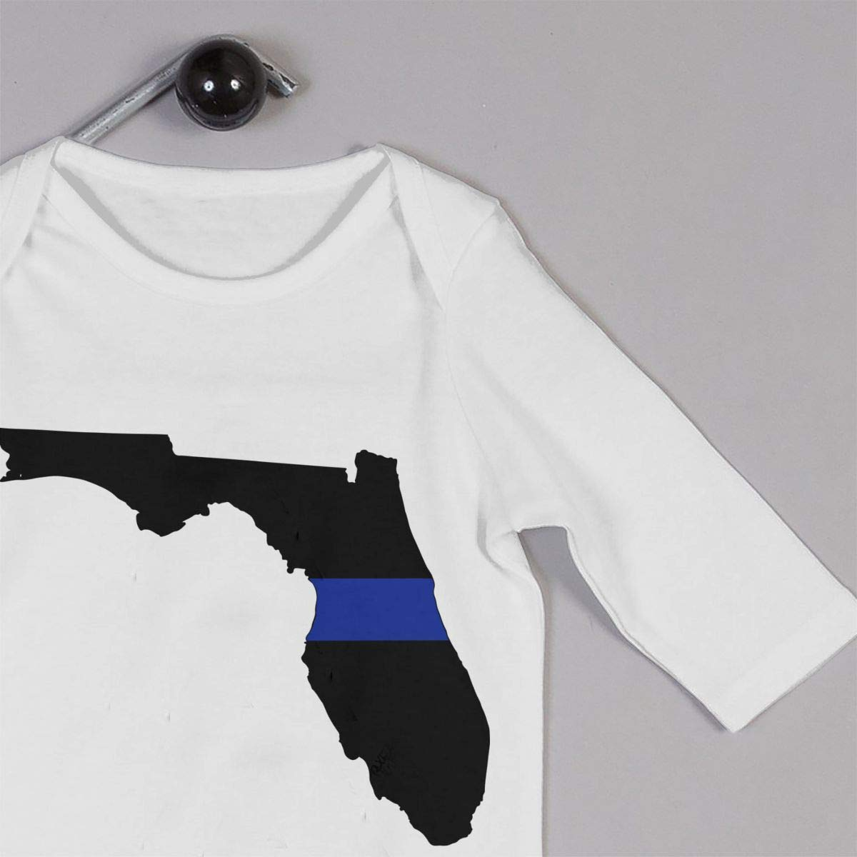 2 Infant Baby Girl Boys Soft /& Breathable Bodysuit Outfits Clothes Thin Blue Line Florida
