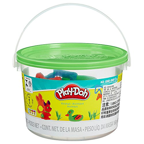 Princess Set Bucket (PLAY-DOH_ Modeling Compound Green Animal Activities Bucket Playset, Age 3+)
