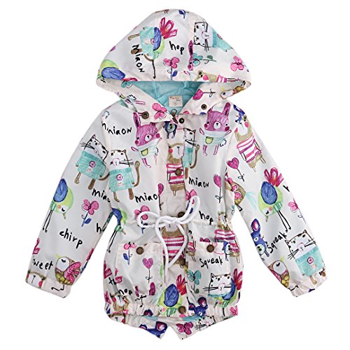 [Kids Boys Girls Long Sleeve Graffiti Animals Bunny Tops Print Autumn Jacket Outfits (2-3 Years,] (Animal Outfits For Toddlers)