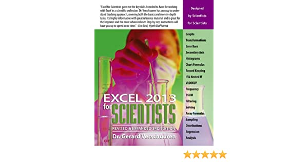 Excel 2013 for Scientists (Excel for Professionals series) 3 Rev ...