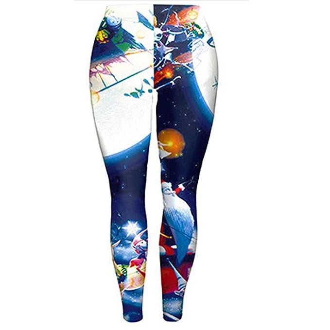 Pantalones De Navidad para Mujer, Pantalon Yoga Cintura Alta ...