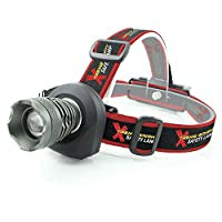Xtreme Bright® Safety Headlamp, Red Flashing Light on Back. Perfect Automotive Spot Light, Great Addition To Camping & Hiking Equipment. Ideal Reliable LED Flashlight Or Portable Work Light - 100% Lifetime Guarantee