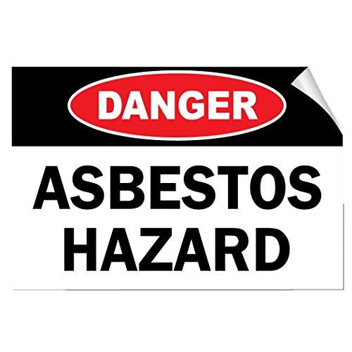 - Danger Asbestos Hazard Hazard Asbestos Vinyl Label Decal Sticker