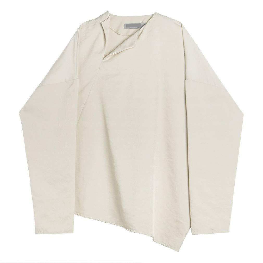 SportsX Men Japan Style Asymmetry Vingtage Long Sleeve Spring//Fall Tees Top