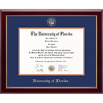 university of florida gold embossed diploma frame solid hardwood gallery moulding officially - Diploma Frame Size
